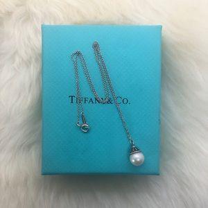 "Tiffany & Co. Jewelry - Tiffany & Co. Ziegfeld Cap Pearl Necklace 16"""